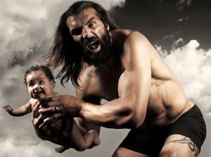The Angry Irish Man Throwing Baby